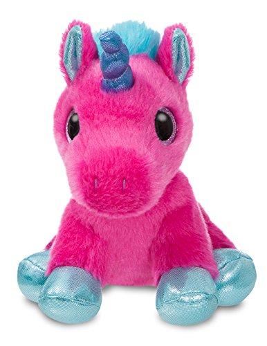 Aurora World 60861 Sparkle Tales Starlight Pinkes Einhorn Plüsch, Hot Pink, 18 cm
