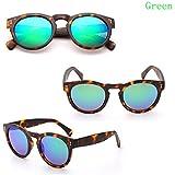 Junsi Classic Retro Women's Sunglasses Mode Gafas de sol Leopard Round Frame Goggles Summer Outdoor Eyewear