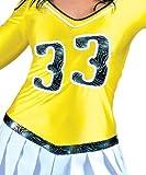 Kostüm Cheerleader Jill Größe 40/42 Damen Cheerleaderin Tänzerin Gelb High School Amerika Sport Karneval Fasching Pierro's