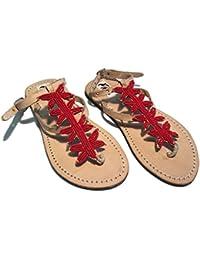 Sandali Originali Kenya Modello Stella Rossa Collezione Sisi Mbili (37)