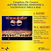 J.haydn: Concerto In Re Maggiore N.2 Per Violincello E Orchestra , W.a.mozart: Sinfonia Concertante In Mi Bemolle Maggiore, Kv 364 Per Violino, Viola E Orchestra