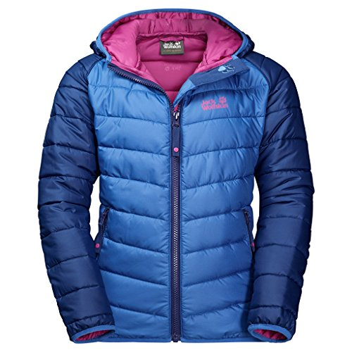 Jack Wolfskin Kinder K Zenon Jacket Jacke Wattiert, Royal Blue, 128