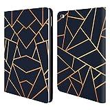 Head Case Designs Offizielle Elisabeth Fredriksson Kupfer Und Mitternacht Navy Stein Kollektion Brieftasche Handyhülle aus Leder für iPad Air 2 (2014)