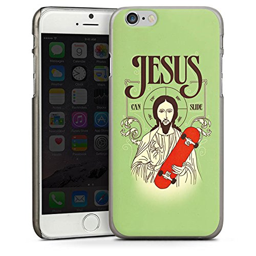 Apple iPhone 5s Housse Étui Protection Coque Jésus Skateboard Rigolo CasDur anthracite clair