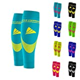 ACTIVE COMPRESSION Calf Sleeves - Extra Strong (türkis/gelb, L)