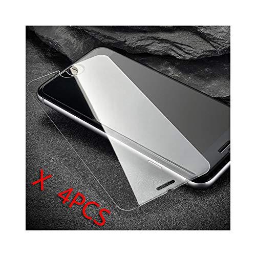 Vikimen Ausgeglichenes Glas-Film, Schirm-Schutz,4Pcs for iPhone 8 Plus for Xs Max XR X 4 4S 5 5S 5C SE 6 6S 7 Plus Screen Protector Tempered Glass Film 9H for iPhone XR -