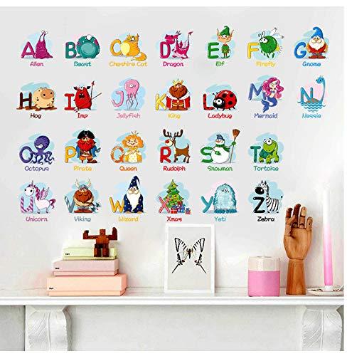 zwyluck Cartoon tier charakter kinder früherziehung wandaufkleber für kinderzimmer kindergarten kinder schlafzimmer aufkleber wohnkultur poster 70 * 45 cm (Passt Cartoon Charakter)