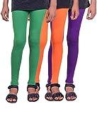 Madona Girls Cotton Leggings - Pack of 3