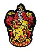 House of Gryffindor schwarz Boden Harry Potter Hogwarts House Wappen rot braun groß | Stickerei Hohe Qualität Eisen auf Sew auf Patch Abzeichen für Kleidung Jacken T-Shirts Mäntel Taschen Hüte Geldbeutel