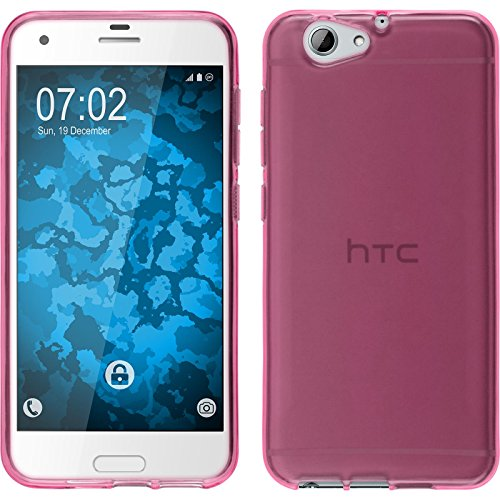 PhoneNatic Case kompatibel mit HTC One A9s - pink Silikon Hülle transparent Cover