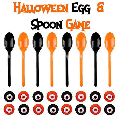 een Staffellauf Spiel saisonales Party Spiel Laufen balancieren von Augäpfeln auf Löffeln - Halloween & Geburtstage ()