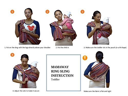 Mamaway Baby Ring Sling | Carrier | Birth to 3 Yr Breastfeeding | Lightweight and Strong Nylon Rings | Tested to Hold 50kg for 24 Hrs | Baby Shower Gift| One Size Fits All | Oceanara