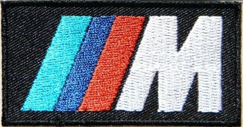 BMW M Power Motorsport Aufbügler Aufnäher bestickt Größe: S (7.62 cm Breite x 3.81 SSLINK Aufnäher cm (Polo Trocken-power)