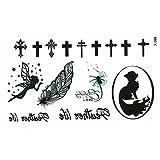 JUSTFOX - Temporäres Tattoo kleine Fee Elfe Feder