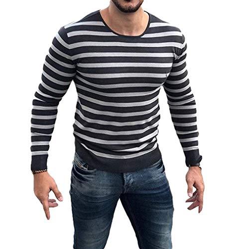 Tee-Shirt À Col Rond À Manches Longues Et Chemises pour Hommes Pullover À Manches Courtes M-2Xl