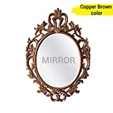 #9: TIED RIBBONS Vintage Antique Style Wall Mirror for Living Room Bathroom Bedroom Home Décor(58 cm X 38 cm, Plastic Framed Mirror)
