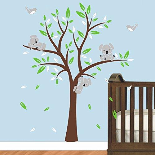 Kinderzimmer Wandtattoo,Koala-Baum-Wandabziehbild/ Modernes Baby Nursery Decor (Violett) (Baum Koala)