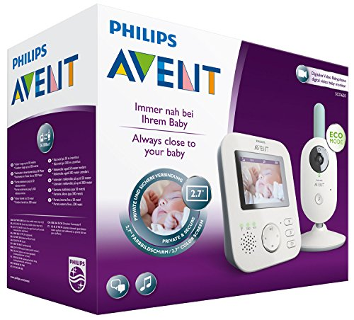 Philips Avent Video-Babyphone, 2,7 Zoll Display, ECO-Mode, 10 Std. Akku, SCD620/26, weiß-türkis - 8