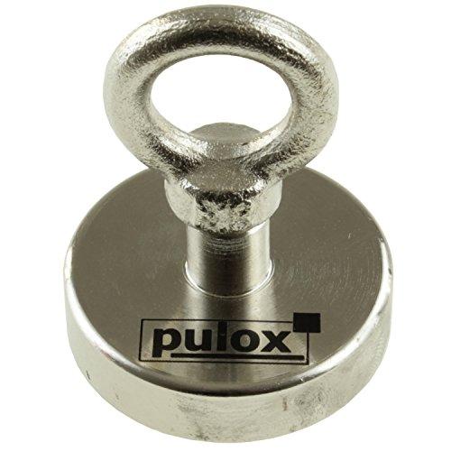 Preisvergleich Produktbild Pulox Bergemagnet Suchmagnet Neodym XXL Starkmagnet Power Magnet 70kg Magnet
