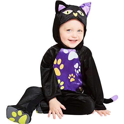 Baby-Katze Schwarzer Kater Halloween Kostüm Baby Kleinkind (Kleinkind Halloween Kostüme Schwarze Katze)