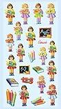 Creapop Sticker Softysticker * Schule - Einschulung - Schulbeginn - Mädchen * Aufkleber