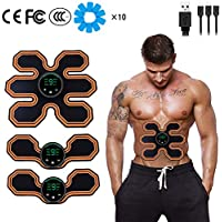 NIULLA Masaje Body EMS Trainer Productos para Adelgazar USB Estimulación Muscular Inalámbrico Smart Fitness Fitness Flat Tummy Slim Gel Massager