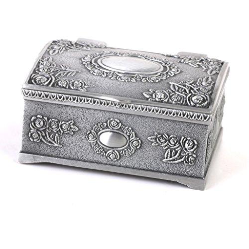 Caso-Caja-Del-Anillo-De-La-Joyeria-De-La-Forma-De-Lata-Del-Regalo-Del-Vintage-Cofres-Del-Tesoro-De-Plata-Antigua