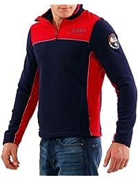 NAPAPIJRI Herren Winter Fleece Sweatshirt SMU TERLER Multicolour Blu Marine B6OM03
