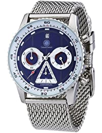 Constantin Durmont Herren-Armbanduhr XL Lancer Chronograph Quarz Edelstahl CD-LANC-QZ-STM2-STST-BL