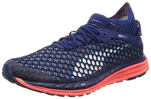 Puma Speed Ignite Netfit, Chaussures Multisport Outdoor Homme Bleu (Blue Depths-fiery Coral-nrgy Turquoise)