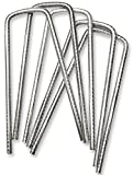 Lot de 50 piquets en forme de « U » - pour le jardin - fixer de la pelouse/du gazon artificiel/des toiles de paillage - acier galvanisé