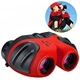 Wiki Toys for 3-12 Year Old Girls, Compact Binoculars for Kids Hunting Bird Watching Gifts for 3-12 Year Old Boys Toys for 3-12 Year Old Boys Gifts for 3-12 Year Old Girls Gifts for Teens Red WKWYJ04