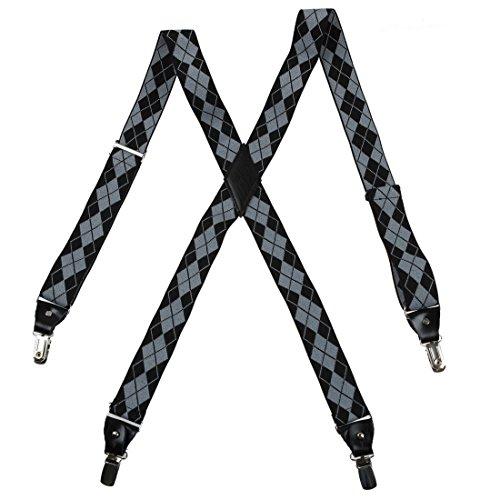 YFA0101 Hommes X-Back Bretelles par Y&G YFA010102-Gris