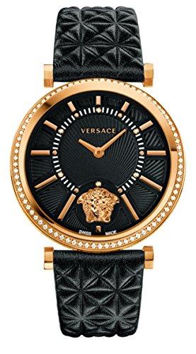 Versace VQG050015 - Reloj de Pulsera Mujer, Color Negro