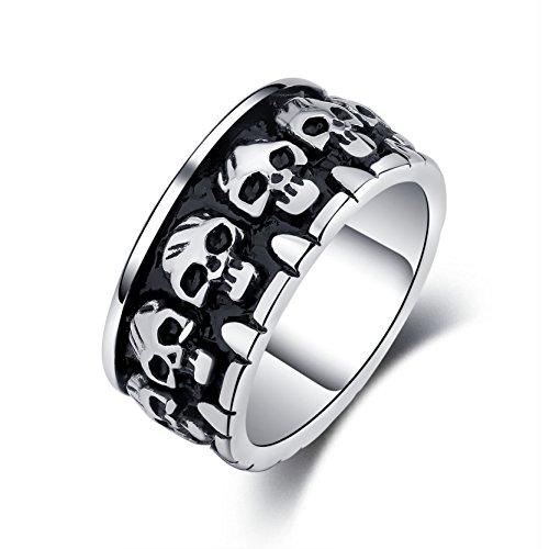 ast Edelstahl Biker Ring Gothic Band für Männer jungen Halloween-Geschenk (Halloween-party-ideen Für Das Büro)