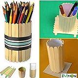 Imtion Ice Cream Stick [ Pack Of 250 Sticks ] Use Of Project Work [ Free 100 Pcs Decoration Stones ]