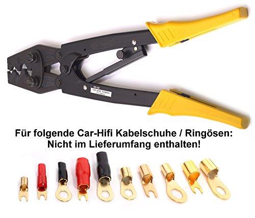 Crimpzange HS38 5,5 - 38 mm² ideal für Car-HiFi Auto unisolierte Kabelschuhe KFZ