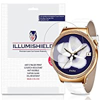 iLLumiShield - Huawei Watch Elegant Screen Protector Japanese Ultra Clear HD Film with Anti-Bubble and Anti-Fingerprint - High Quality Invisible Shield - Lifetime Warranty - [3-Pack]