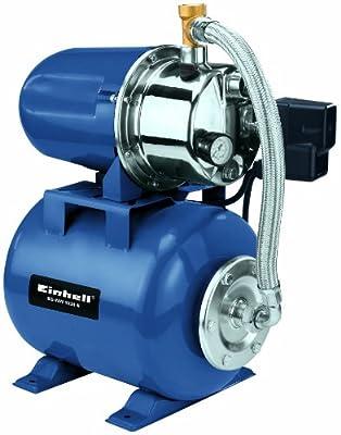 Einhell Hauswasserwerk BG-WW 1038 N (1000 W, 3800 l/h Fördermenge, 20 l Behälter, Edelstahlpumpengehäuse, Manometer) von Einhell