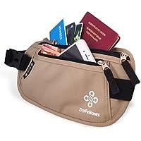 Sac de hanche Premium avec protection RFID pour femmes & hommes | Sac-ceinture léger | Banane pour le sport & les voyages | Sacoche plate et & spacieuse