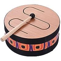 Muslady Piso de Madera Tambor Reunión Carnival Rhythm Percussion Instrumento Musical para Niños (8in)