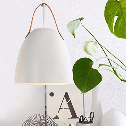 KJWXSG Pendentif drop einfach Metall Glanz moderne Die elegante Kronleuchter Mini für Esstisch Lounge Restaurant Lampe (weiß), Weiß
