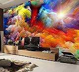 Mkkwp Hohe Qualität Moderne Luxus 3D Tapete 3D Wandbild Tapete Foto Wand Papier Wolken Fototapete 3D-350Cmx245Cm