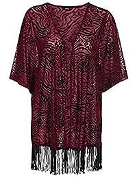 holidaysuitcase Holiday Suitcase-Ladies Womans Plus Size Shawl Jacket Kimono Cover up.