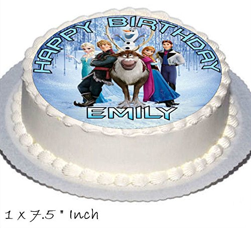 Frozen Birthday Cake Party Set Toppers With Any Name Includes Elsa Anna Olaf On