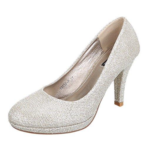 Chaussures, 1965B-p, escarpins femme Or - Doré