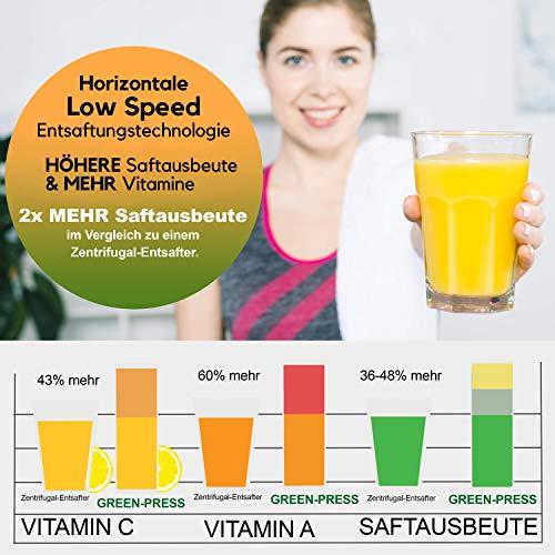 Nutrilovers Slow Juicer GREEN-PRESS - 8