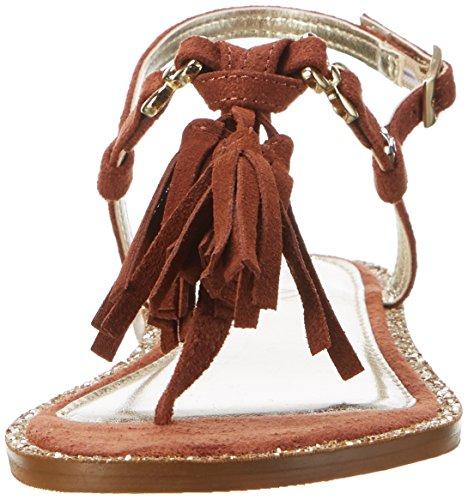 Replay Ladies Teres Sandali Con Cinturino Marrone (cuoio)
