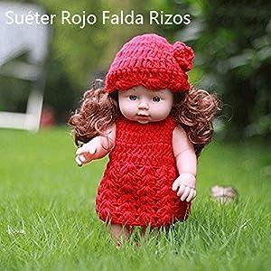 Local Makes A Comeback- Suéter Falda roja Rizos (HYM67)