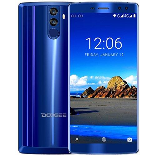 Batteria grande DOOGEE BL12000 Smartphone 6.0 '' 18: 9 FHD senza cornice + 4 GB + 32 GB MTK6750T Octa Core 4 Fotocamera 16 + 13MP 16 + 8MP 12000 mAh Telefono cellulare-blu